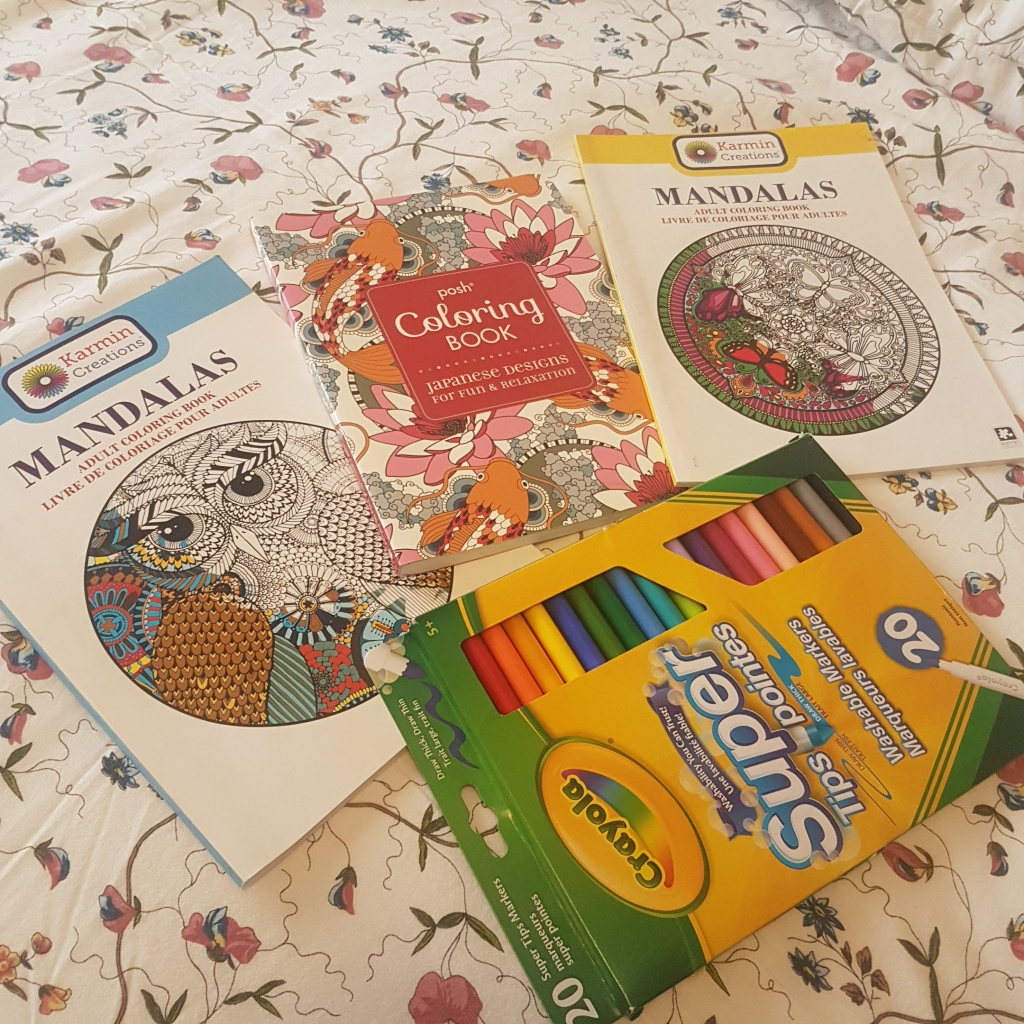 Colouring books and markers